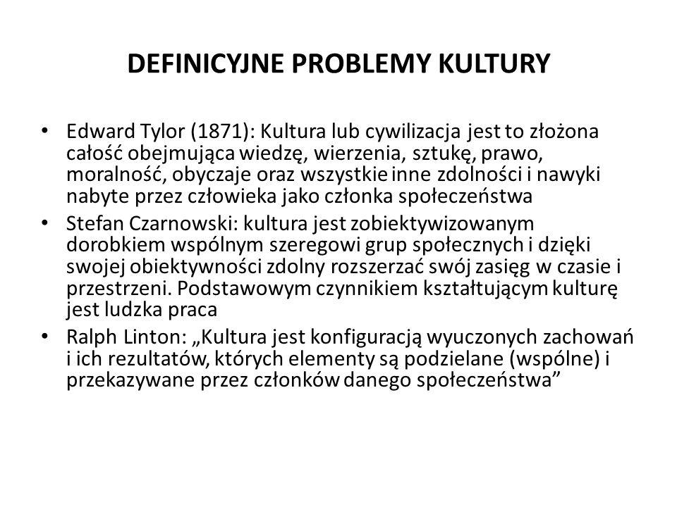 DEFINICYJNE PROBLEMY KULTURY