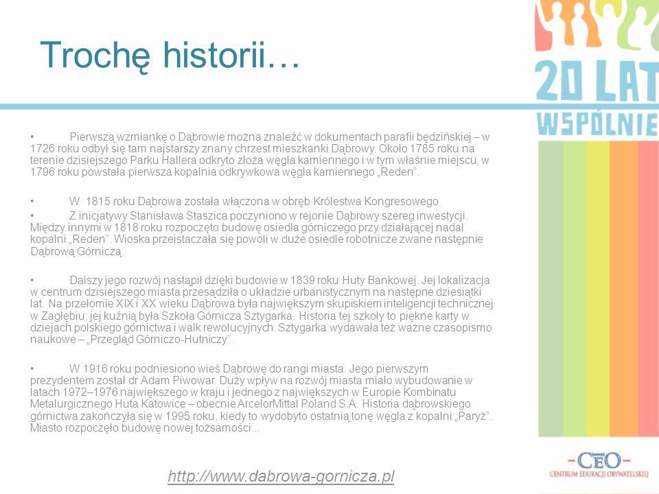 Trochę historii… http://www.dabrowa-gornicza.pl