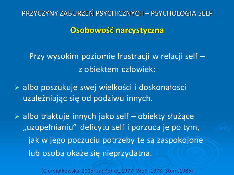 PRZYCZYNY ZABURZEŃ PSYCHICZNYCH – PSYCHOLOGIA SELF
