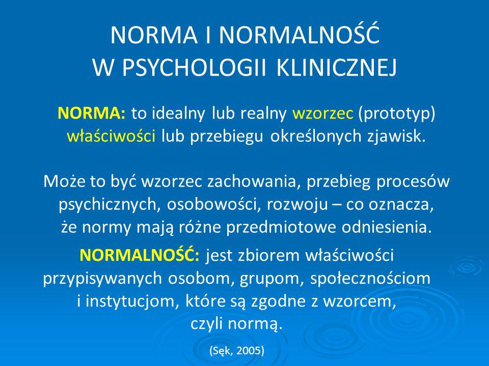 W PSYCHOLOGII KLINICZNEJ