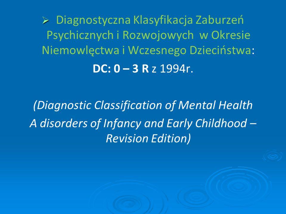 (Diagnostic Classification of Mental Health