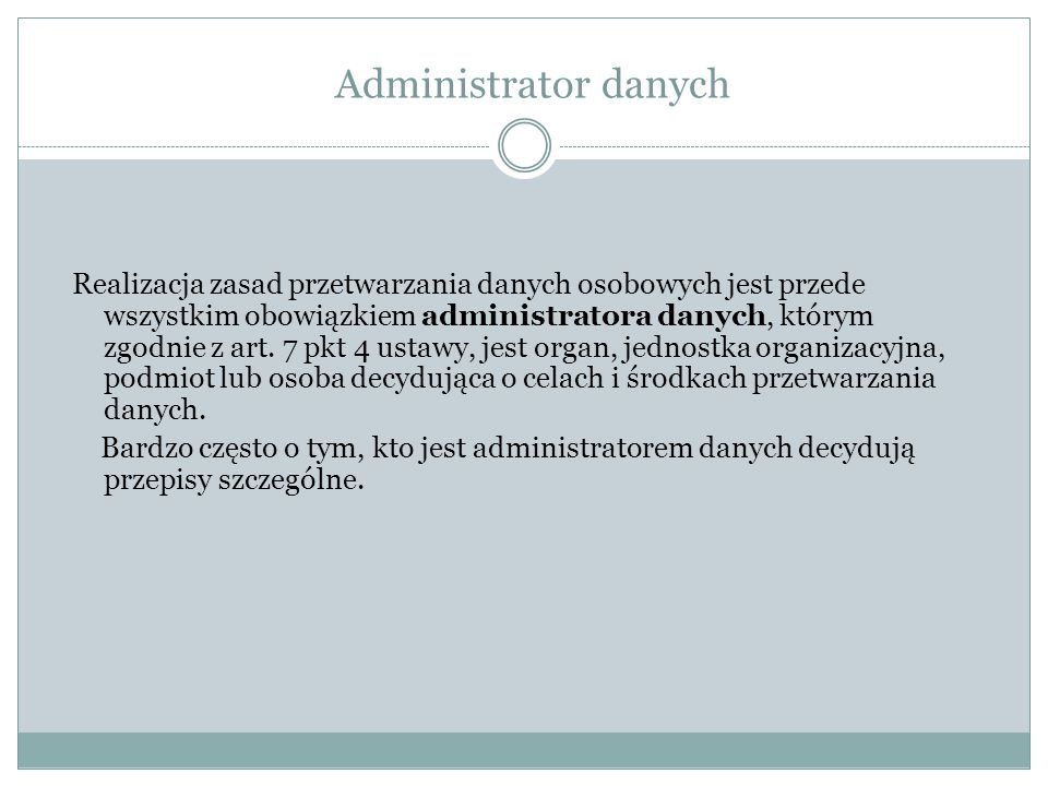 Administrator danych