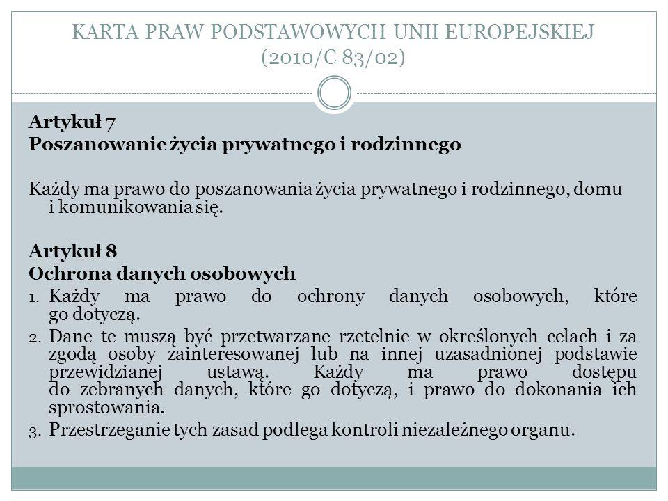 KARTA PRAW PODSTAWOWYCH UNII EUROPEJSKIEJ (2010/C 83/02)