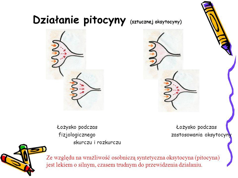 Działanie pitocyny (sztucznej oksytocyny)