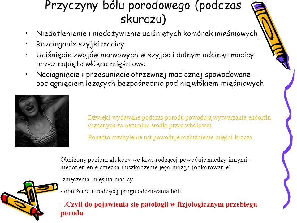 Przyczyny bólu porodowego (podczas skurczu)