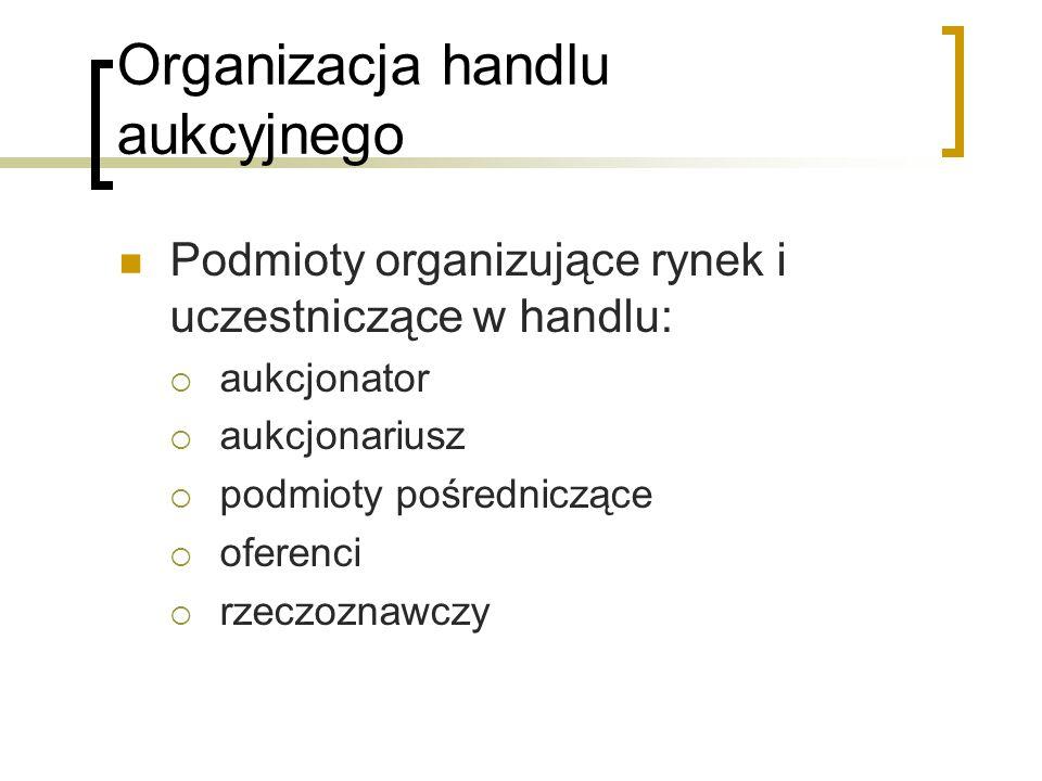 Organizacja handlu aukcyjnego
