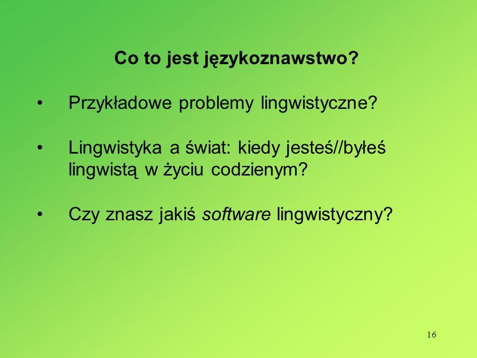 Co to jest językoznawstwo
