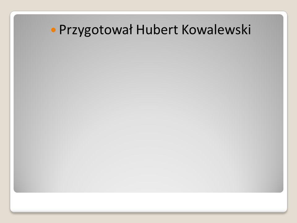 Przygotował Hubert Kowalewski