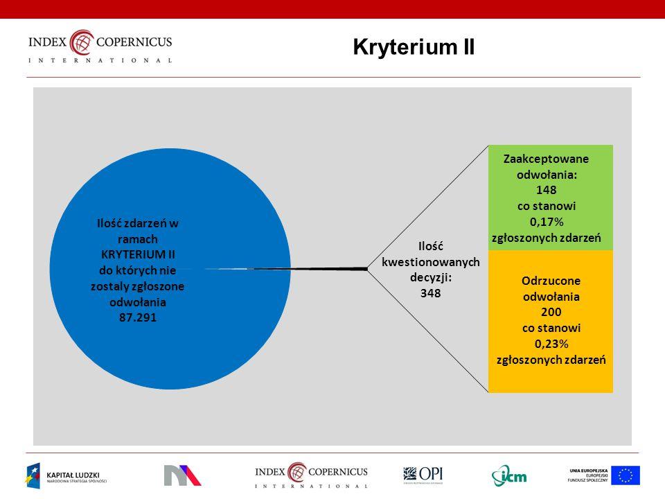 Kryterium II