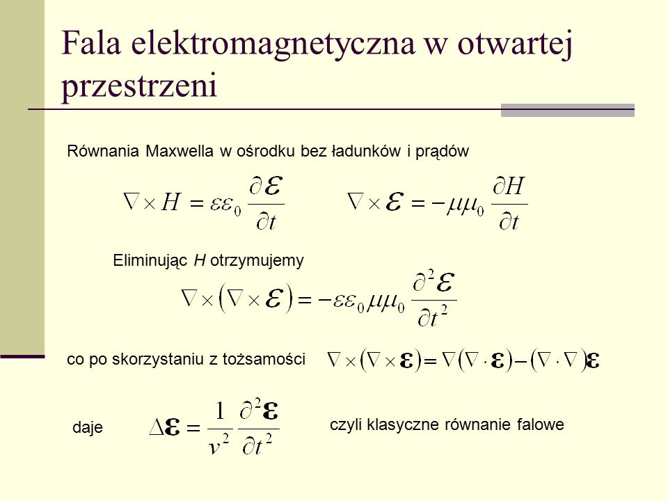 Fala elektromagnetyczna w otwartej przestrzeni