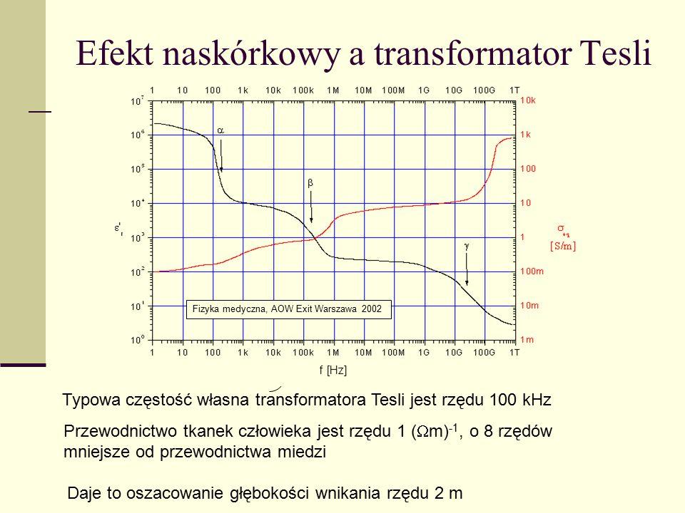 Efekt naskórkowy a transformator Tesli