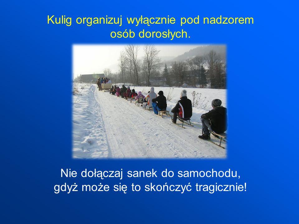 Kulig organizuj wyłącznie pod nadzorem osób dorosłych.