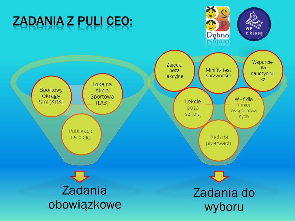 ZADANIA Z PULI CEO: Zadania obowiązkowe Zadania do wyboru