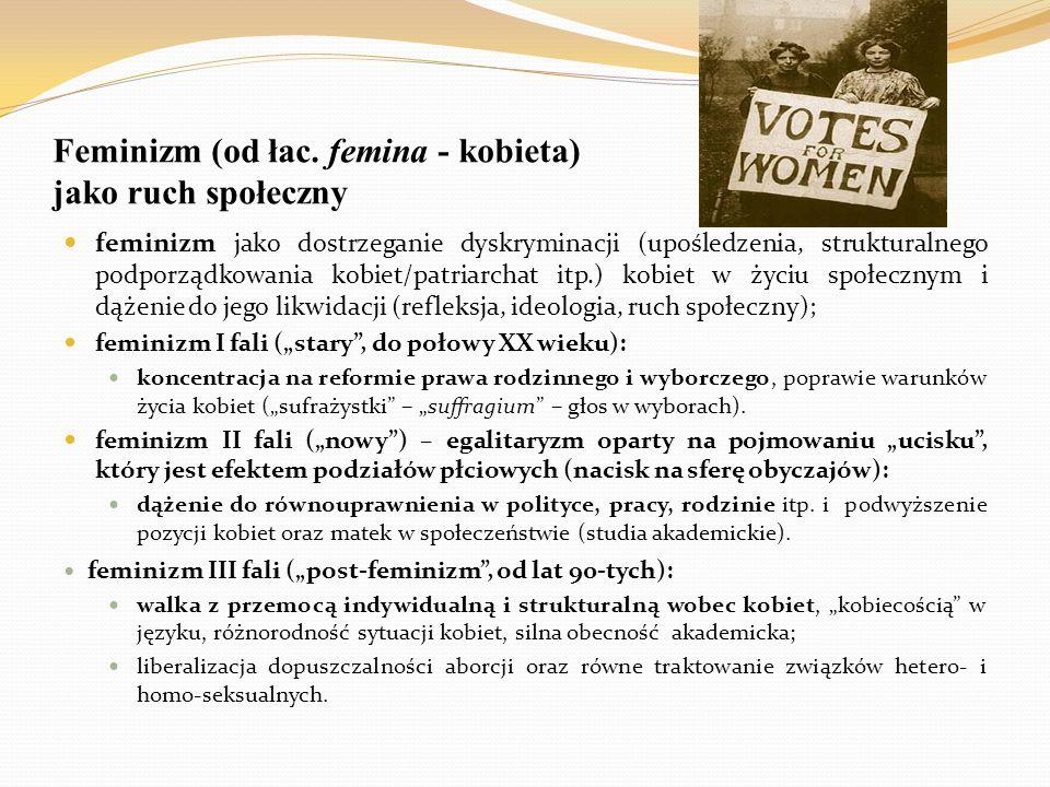 Feminizm (od łac. femina - kobieta) jako ruch społeczny