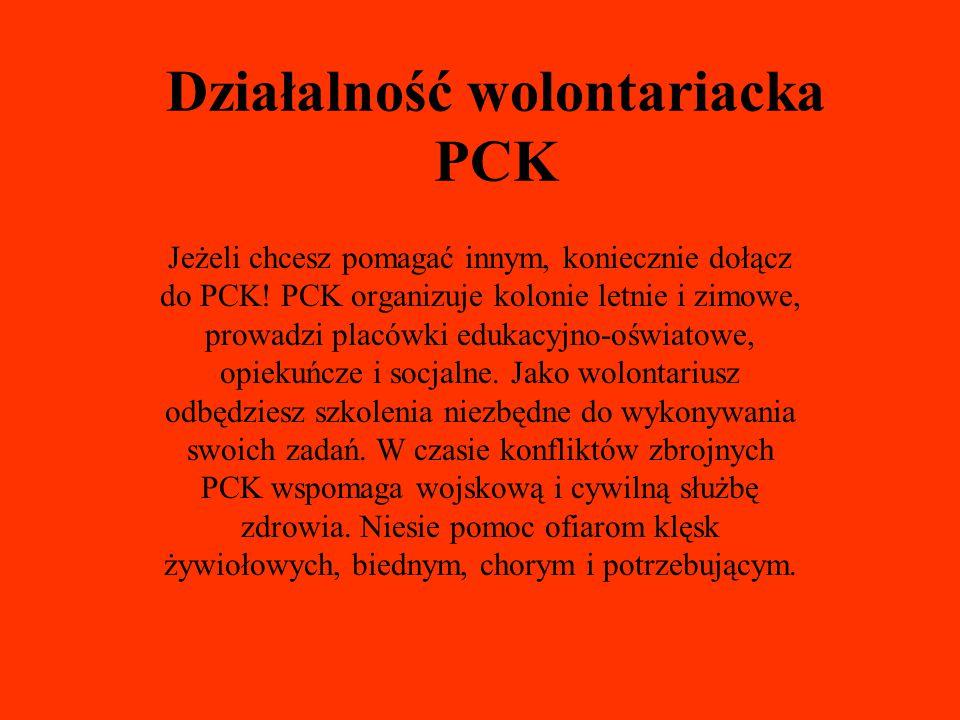 Działalność wolontariacka PCK