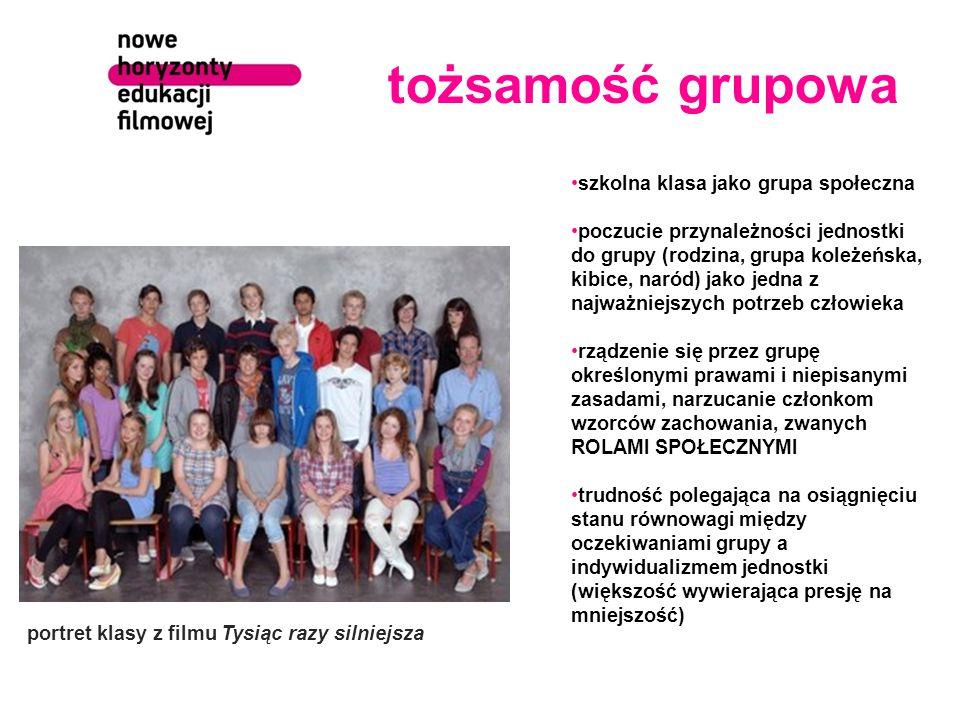 tożsamość grupowa szkolna klasa jako grupa społeczna