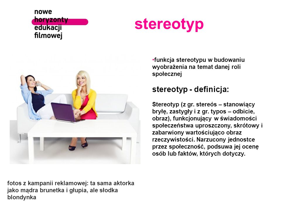 stereotyp stereotyp - definicja: