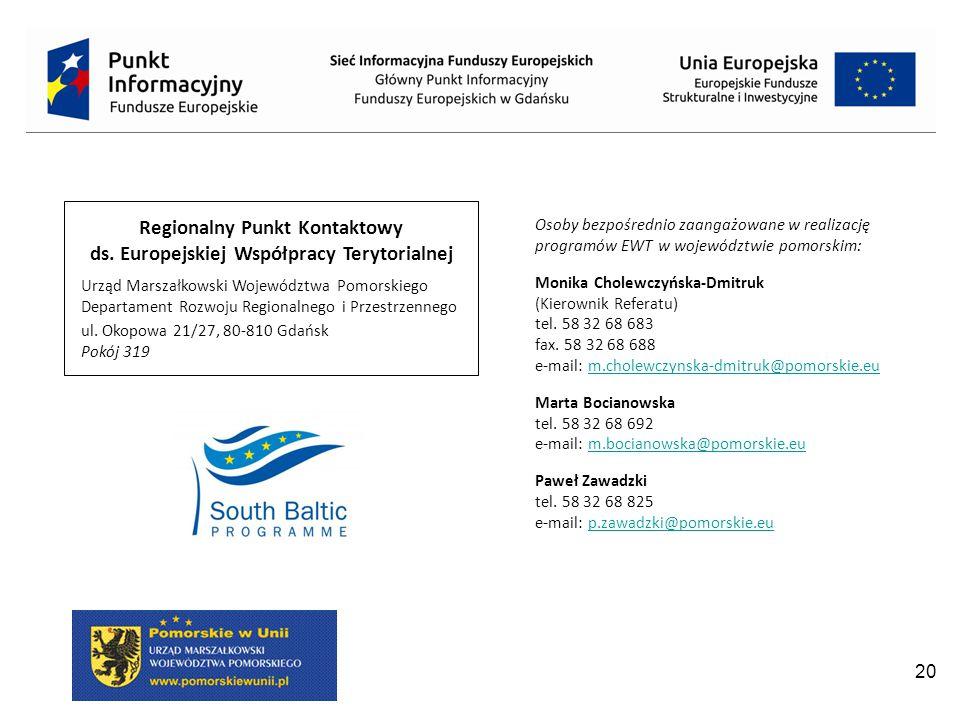 Regionalny Punkt Kontaktowy ds. Europejskiej Współpracy Terytorialnej