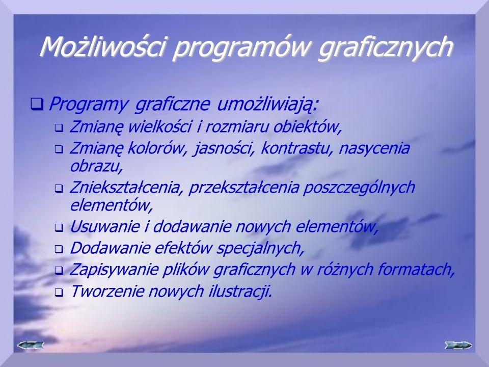 Możliwości programów graficznych