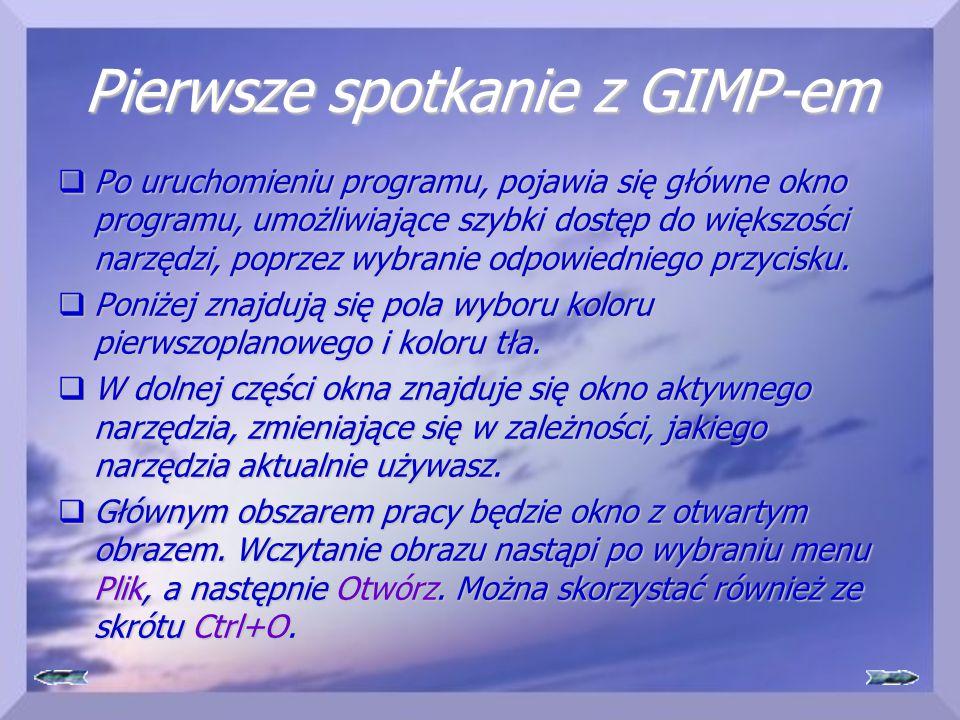 Pierwsze spotkanie z GIMP-em