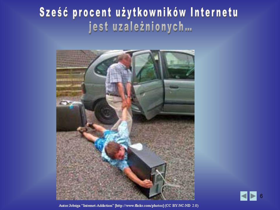 Sześć procent użytkowników Internetu jest uzależnionych…