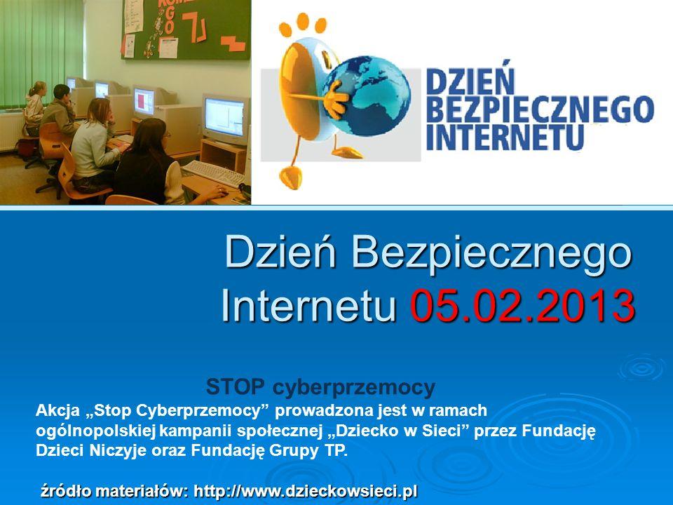 Dzień Bezpiecznego Internetu 05.02.2013