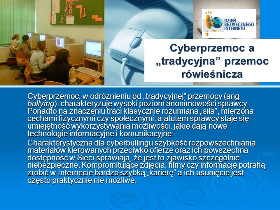 """Cyberprzemoc a """"tradycyjna przemoc rówieśnicza"""