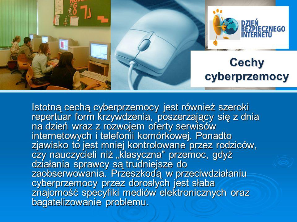 Cechy cyberprzemocy