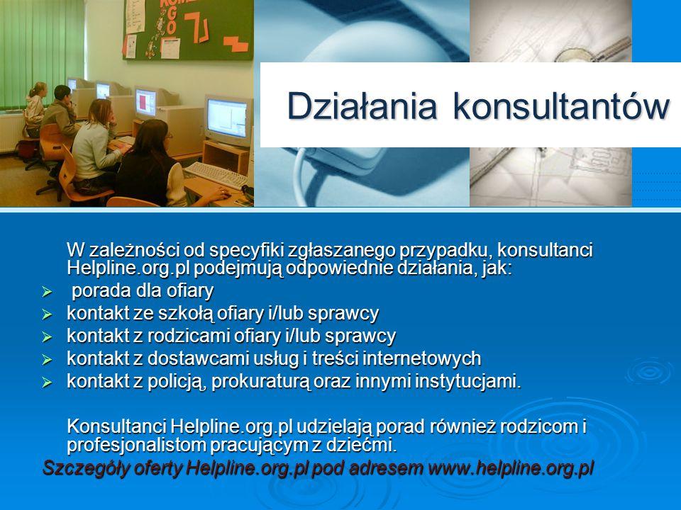 Działania konsultantów