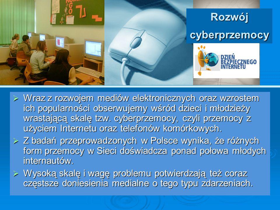 Rozwój cyberprzemocy