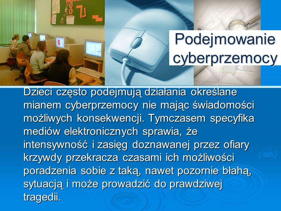 Podejmowanie cyberprzemocy