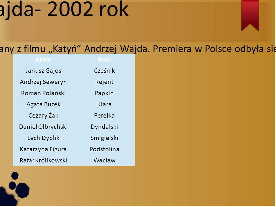 Andrzej Wajda- 2002 rok