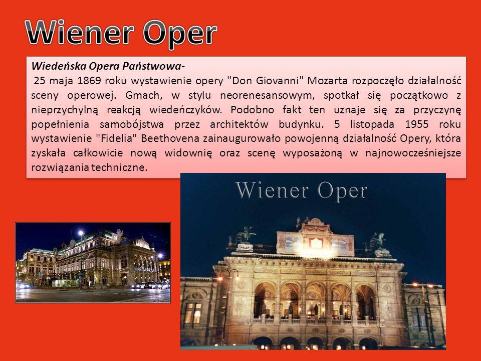Wiener Oper Wiedeńska Opera Państwowa-