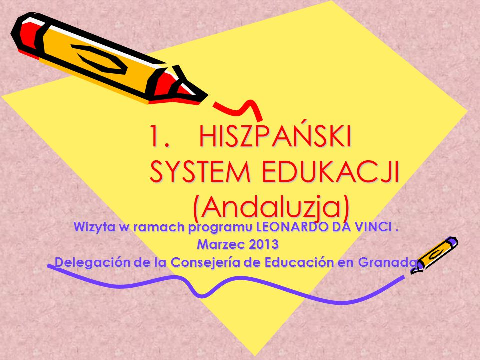 HISZPAŃSKI SYSTEM EDUKACJI (Andaluzja)