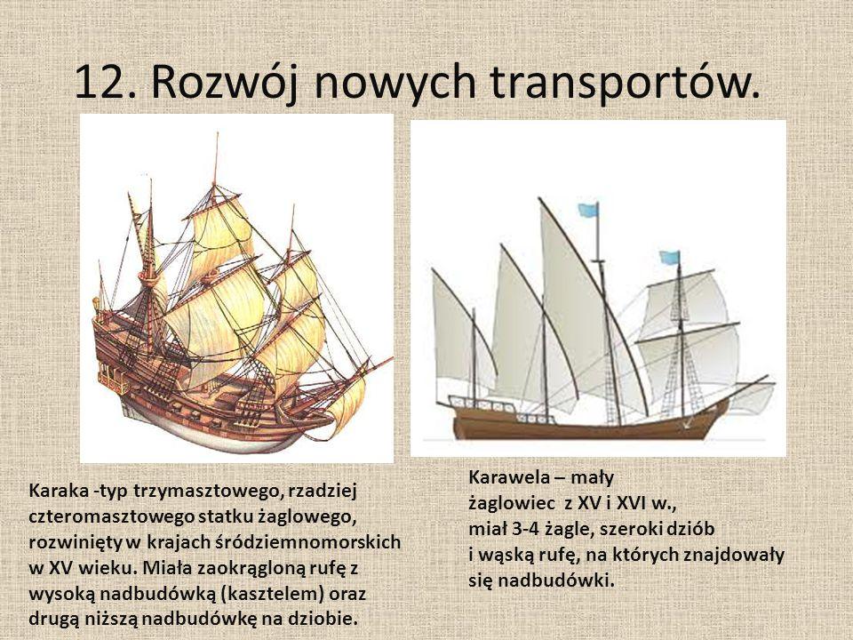 12. Rozwój nowych transportów.