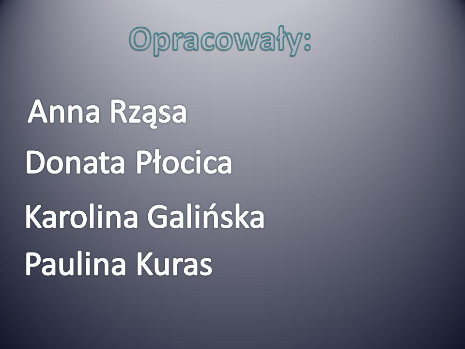 Opracowały: Anna Rząsa Donata Płocica Karolina Galińska Paulina Kuras