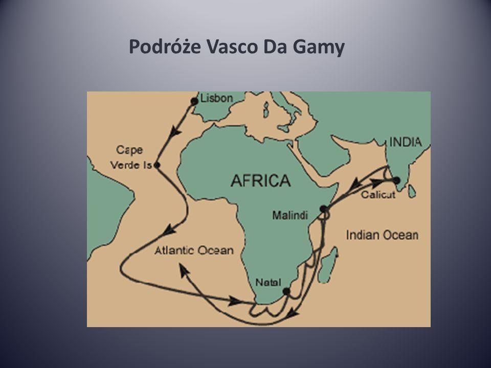 Podróże Vasco Da Gamy