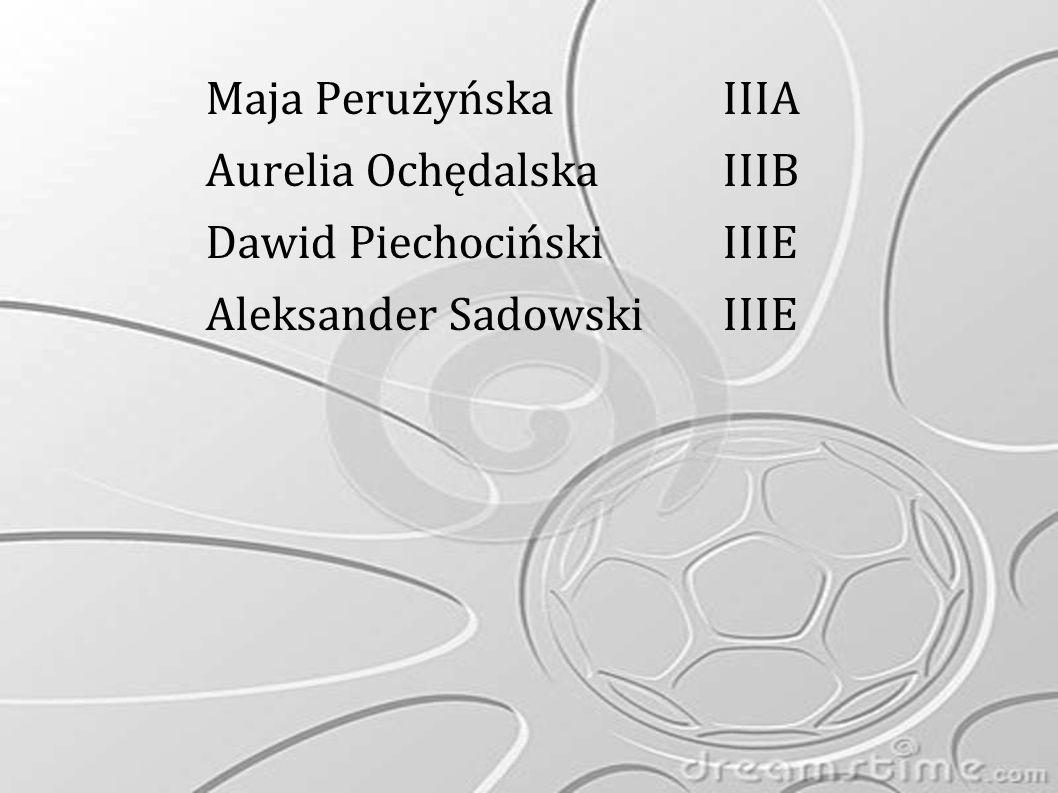 Maja Perużyńska IIIA Aurelia Ochędalska IIIB Dawid Piechociński IIIE Aleksander Sadowski IIIE