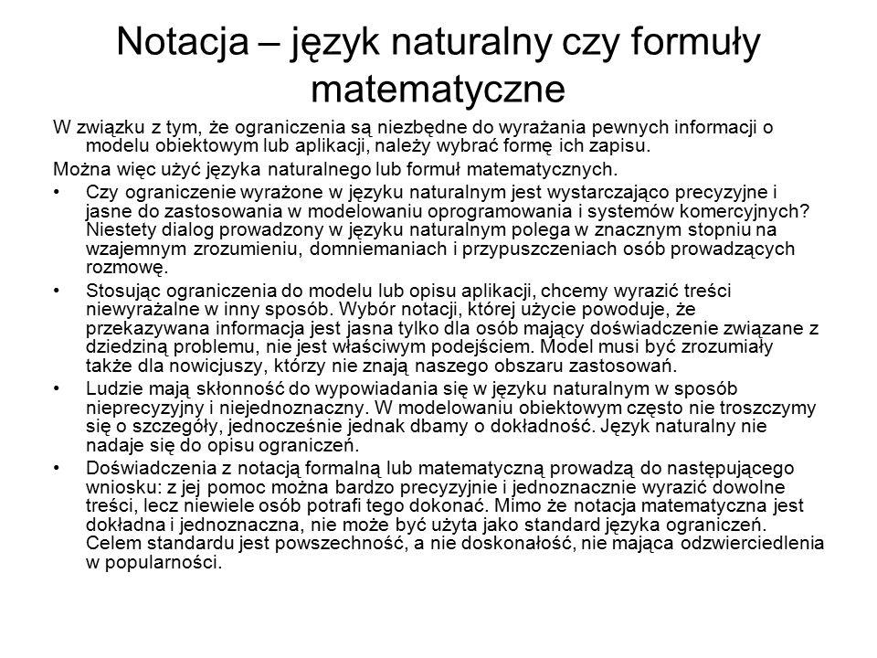 Notacja – język naturalny czy formuły matematyczne