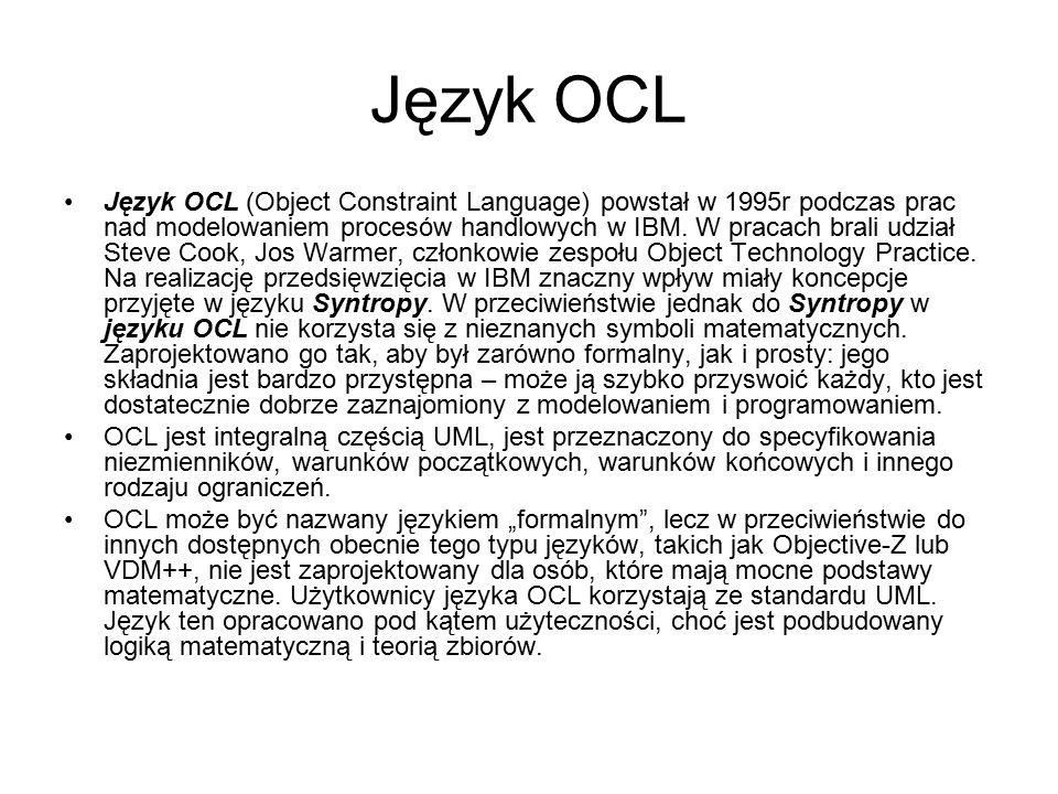 Język OCL