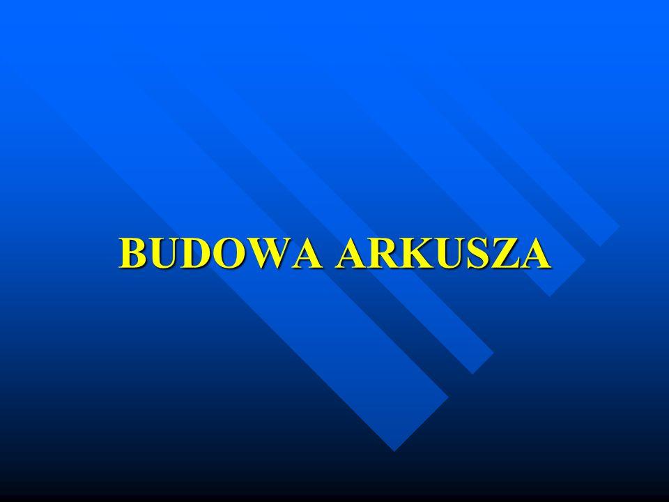 BUDOWA ARKUSZA