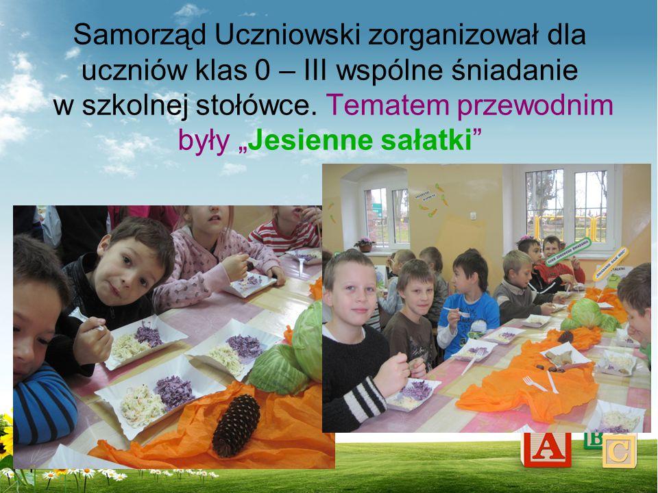 Samorząd Uczniowski zorganizował dla uczniów klas 0 – III wspólne śniadanie w szkolnej stołówce.