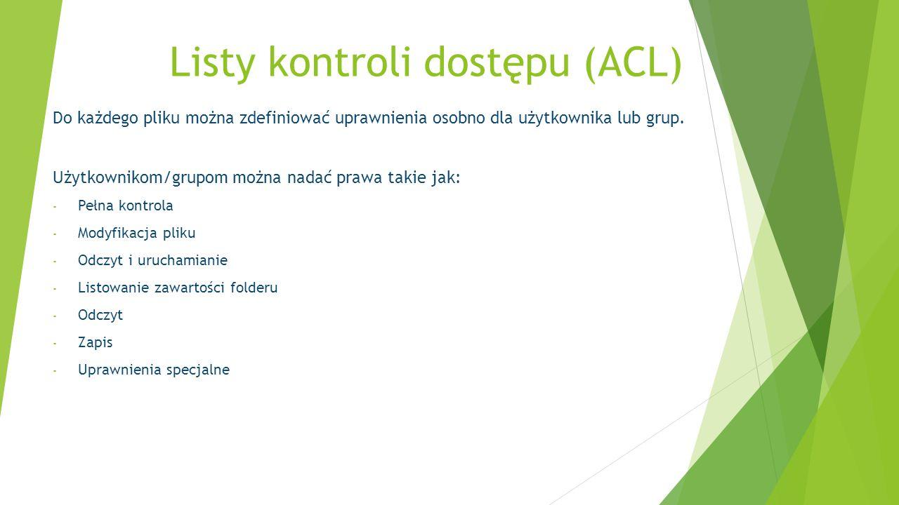Listy kontroli dostępu (ACL)