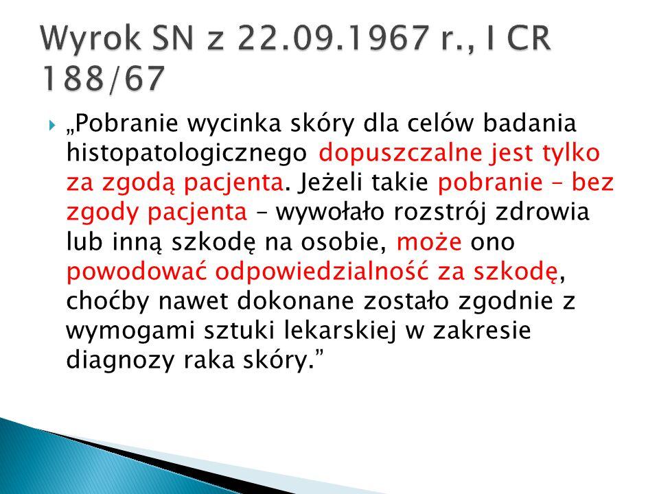 Wyrok SN z 22.09.1967 r., I CR 188/67