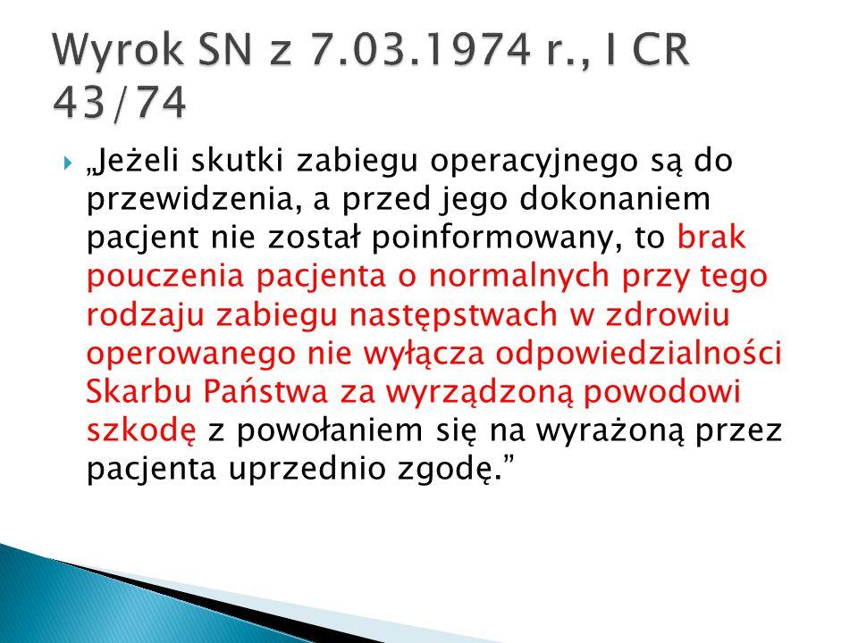 Wyrok SN z 7.03.1974 r., I CR 43/74