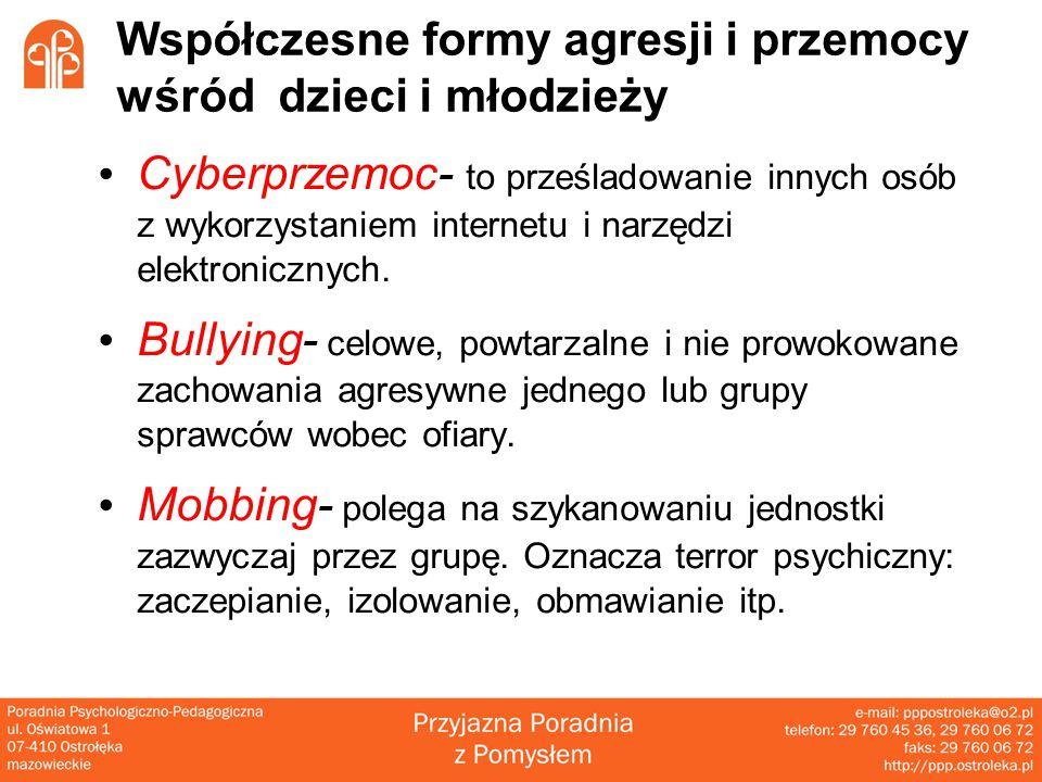 Współczesne formy agresji i przemocy wśród dzieci i młodzieży