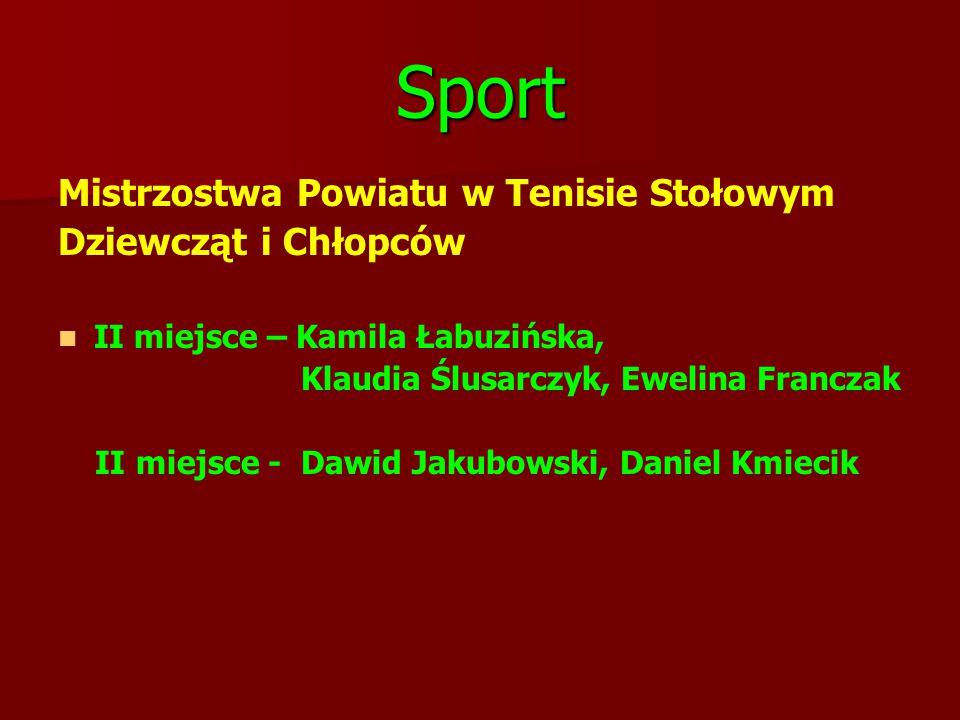 Sport Mistrzostwa Powiatu w Tenisie Stołowym Dziewcząt i Chłopców