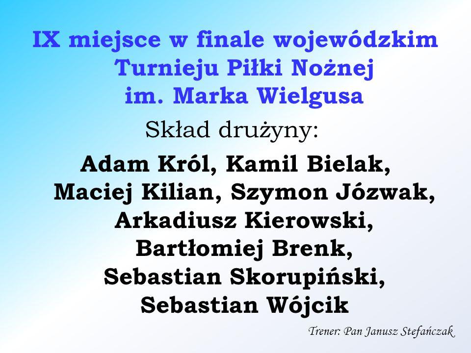 IX miejsce w finale wojewódzkim Turnieju Piłki Nożnej im