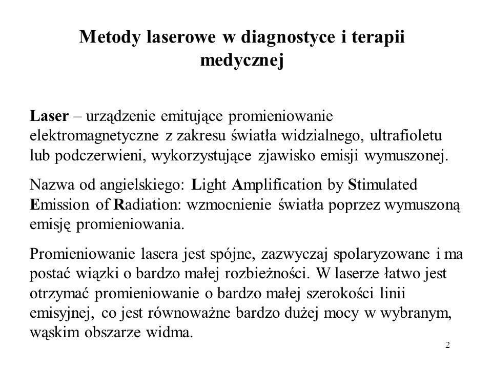 Metody laserowe w diagnostyce i terapii medycznej