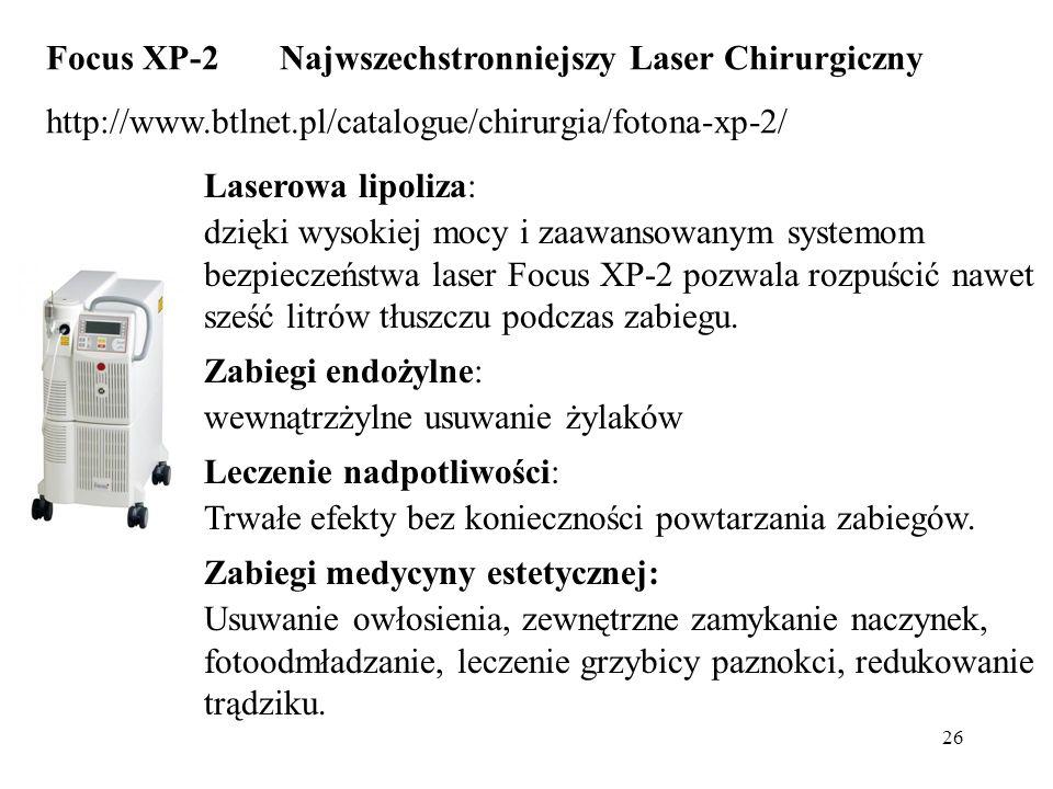 Focus XP-2 Najwszechstronniejszy Laser Chirurgiczny